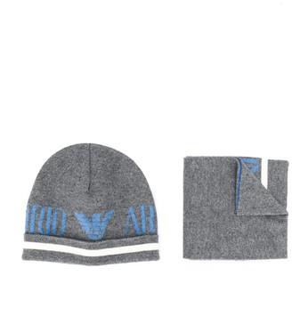Emporio Armani Kids Fine Knit Logo Outerwear Set