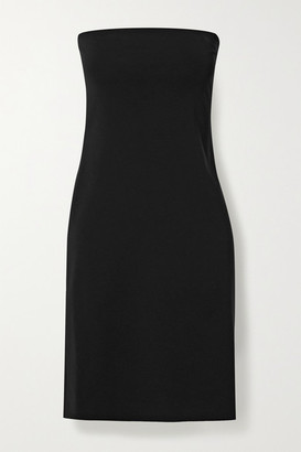 The Row Ferren Strapless Stretch-jersey Dress - Black