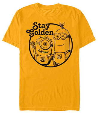 Fifth Sun Men's Tee Shirts GOLD - Despicable Me 3 'Stay Golden' Tee - Men