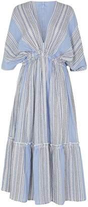 Lemlem Amira Plunge Midi Dress