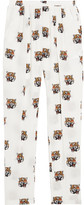 Stella McCartney Christina Printed Silk-crepe Tapered Pants - White