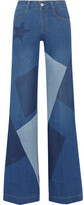 Stella McCartney Patchwork High-rise Flared Jeans - Mid denim