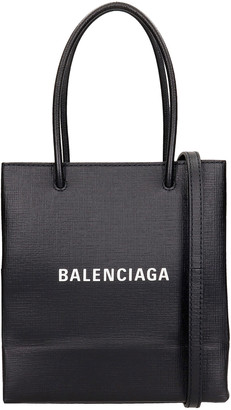 Balenciaga Tote In Black Leather