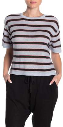 360 Cashmere Hannah Striped Linen Top