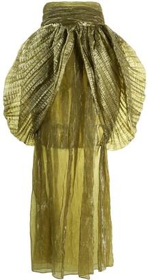 Romeo Gigli Pre Owned 1990s Layered Ruffle Midi Skirt