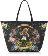DSQUARED2 Black Tattoo Print Neoprene Tote Bag