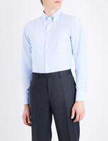 Drakes Slim-fit button-down Oxford shirt
