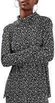 Topshop Women's '80S Print Cowl Neck Top