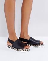 Monki Mono Espadrille Flatform Sandals