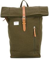 SANDQVIST leather trim backpack