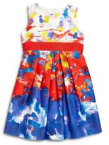 Milly Little Girl's Watercolor Cutout Dress