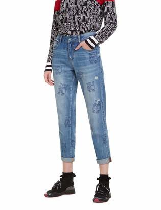 Desigual Women's Trousers Robots Boyfriend Jeans
