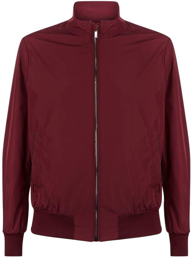 Canali Funnel Neck Bomber Jacket