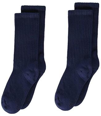 Jefferies Socks Seamless Sport Half Cushion Crew 3-Pack (Toddler/Little Kid/Big Kid/Adult) (Navy) Kids Shoes