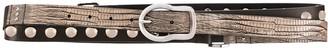 Dorothee Schumacher Stud-Embellished Lizard Print Belt