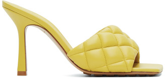 Bottega Veneta Yellow Padded Heeled Sandals