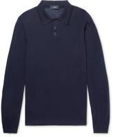 Joseph Slim-fit Merino Wool Polo Shirt - Navy