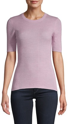 Frame Ribbed Crewneck Sweater