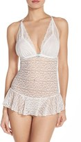 Betsey Johnson Women's Skirted Lace Teddy