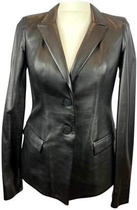 Jitrois Black Leather Jacket for Women