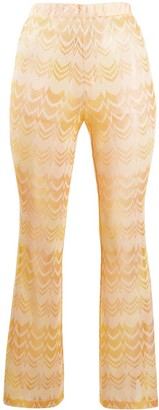 Missoni Mare Slim-Fit Embroidered Zigzag Trousers