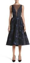 Lela Rose Women's Metallic Jacquard Fit & Flare Dress