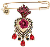 Betsey Johnson Queen Heart Pin