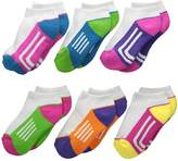 Jefferies Socks Athletic Low Cut 1/2 Cushion 6-Pack Girls Shoes