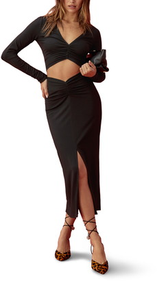 Reformation Lexington Two-Piece Long Sleeve Midi Dress