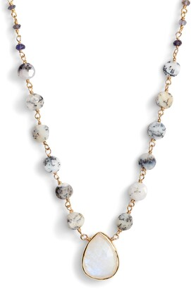 ela rae Semiprecious Stone Pendant Necklace