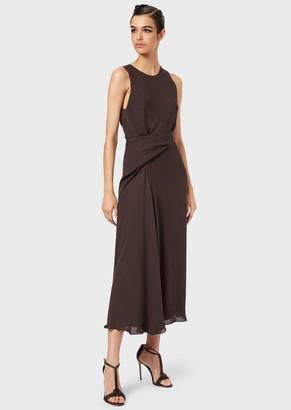 Giorgio Armani Long, Draped, Silk Georgette Dress