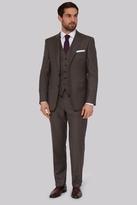 Savoy Taylors Guild Regular Fit Neutral Sharkskin Suit