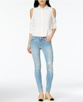 Hudson Krista Ripped Super-Skinny Ankle Jeans