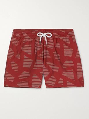 Frescobol Carioca Modernist Slim-Fit Short-Length Printed Swim Shorts