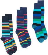 Paul Smith multi-stripe three pack socks