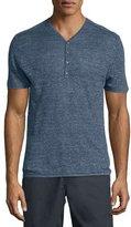 John Varvatos Short-Sleeve Henley Shirt, Blue
