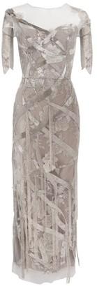 Marchesa Embellished Column Dress