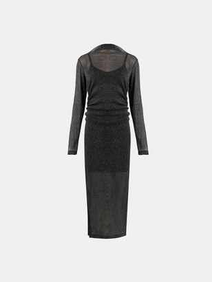 AllSaints Francesco Metallic Dress