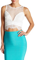 Wow Couture Sleeveless Lace Cropped Tank