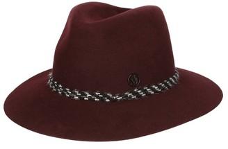 Maison Michel Henrietta leopard bondage on felt hat