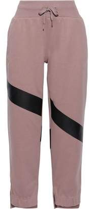 adidas by Stella McCartney Yoga Comfort Striped French Cotton-terry Track Pants