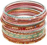 Mudd Textured & Glittery Bangle Bracelet Set