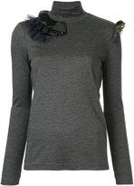 Kolor ruffled detail roll neck jumper