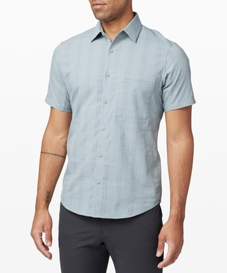 Lululemon Down to the Wire Short Sleeve Shirt *Grid
