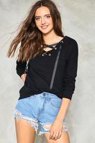 Nasty Gal nastygal In A Bind Lace-Up Top