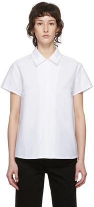 A.P.C. White Marina Short Sleeve Shirt