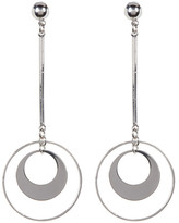 Cara Accessories Dangling Double Circle Earring