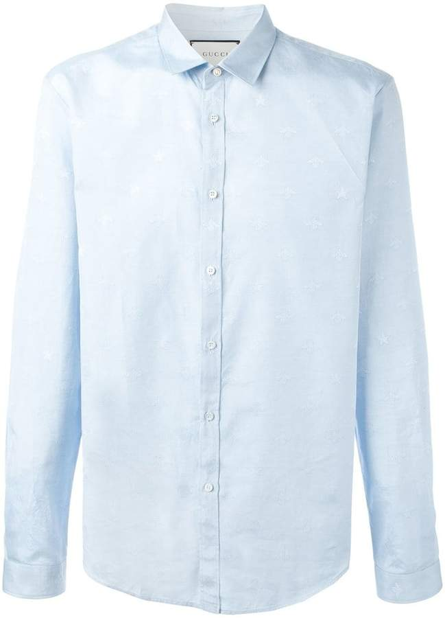 Gucci bee jacquard Duke shirt