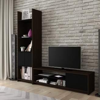 Frederick Latitude Run Entertainment Center for TVs up to 65 inches Latitude Run Color: Dark Chocolate/Black