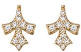 Lee Jones Collection Petal Pave Diamond Stud Earrings - Yellow Gold